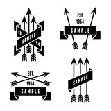 Label with arrows royalty free illustration