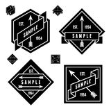 Label with arrows Stock Photos