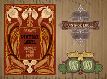 Free Label Art Nouveau Stock Photography - 82344642