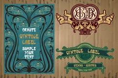 Label Art Nouveau Photos libres de droits