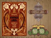 Label Art Nouveau Stock Photography