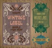 Label Art Nouveau Stock Images
