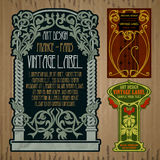 Label Art Nouveau Royalty Free Stock Images