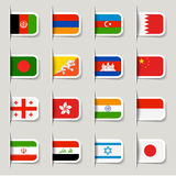 Label - Asian Flags Royalty Free Stock Photography
