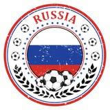 Label/autocollant du football de la Russie illustration libre de droits