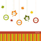 Label for Autumn Sales Stock Photo