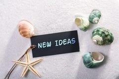 Label avec de nouvelles idées Photo libre de droits