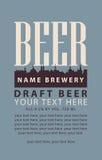 Label avec la bière pression Images stock