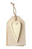 Label avec le coeur d'amour Image stock