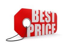 Label avec le meilleur prix (chemin de coupure inclus) Photos stock