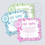 Label for baby shower Stock Image
