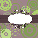Label on background with circles decoration Royalty Free Stock Photos