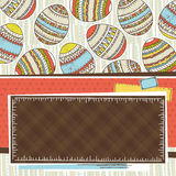 Label with background of easter eggs, vector Royalty Free Stock Images
