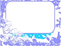 Label on background with spots and flowers isolated Stock Images