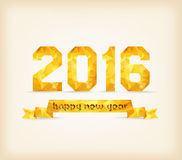 2016 Label Badge. gold Geometrical background Stock Photography