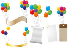 Label balloon Stock Photography