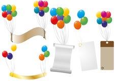 Label balloon Stock Photography