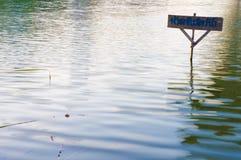 Label ban fishing thai language Royalty Free Stock Image