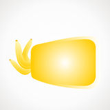 Label bananas. Blank for text, yellow vector format Royalty Free Stock Images