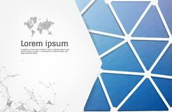 Label banner polygon background colorful pattern triangle geometric with space for text and message modern artwork design. Polygonal design with infographic royalty free illustration