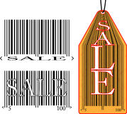 Label with the bar code and the inscription sale Stock Images
