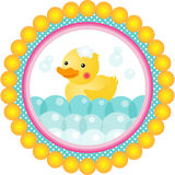 Label bath duck Stock Image