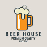 Label of beer badge, logo templates and design elements for beer house, bar, Stock Photo
