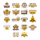 Label of beer badge Stock Images