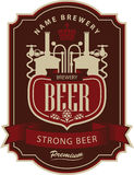 Label beer with brewery. In retro style Royalty Free Stock Images