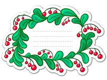 Label with berries Stock Images