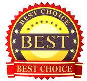 Label best choice Stock Photo