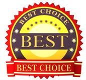 Label best choice Stock Photo