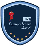 Label of best customer service award. Royalty Free Stock Photos
