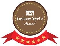 Label of best customer service award. Stock Photos