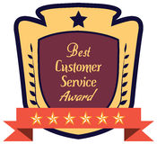 Label of best customer service award. Royalty Free Stock Images