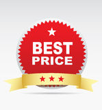 Label - best price. Royalty Free Stock Photo