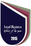 Label of best winner of the year award for local business Stock Photo