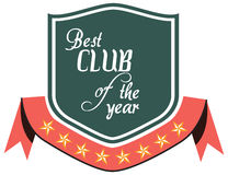label of best of year award for club Royalty Free Stock Photos