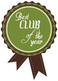 label of best of year award for club Royalty Free Stock Photo