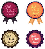 label of best of year award for club Royalty Free Stock Image