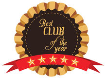 label of best of year award for club Stock Photo