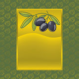 Label with black olives Royalty Free Stock Photography