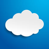 Cloud Blue Sky Label Stock Image