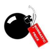Label Bombastic price. Vector illustration - Bombastic price label Stock Image