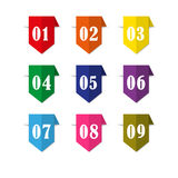 Label bookmark with Number vector illustration
