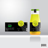 Label and bottle design for drink, juice. Suitable use for beverage industries. vector file Stock Image