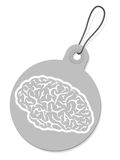 Label with brain silhouette Stock Photography