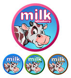 Label or brand of beverage milk products Stock Photography