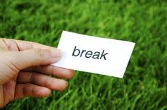 Label  break Royalty Free Stock Photo