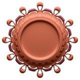 Label brun abstrait Illustration de Vecteur